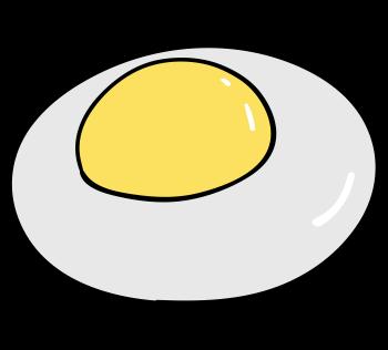 卵白が濁っている