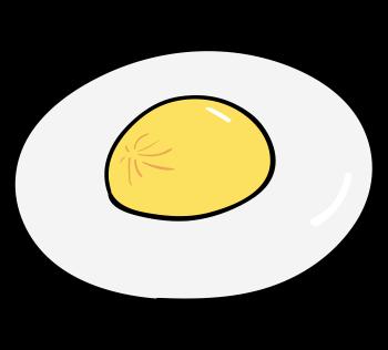 卵黄にシワが寄っている