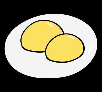卵黄が2つ入っている