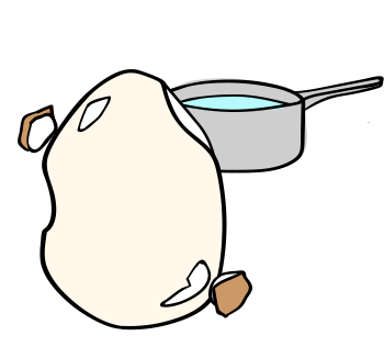 ゆで卵がうまく剥けない