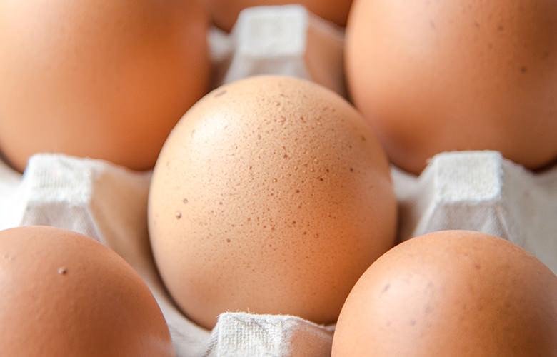 模様つき卵